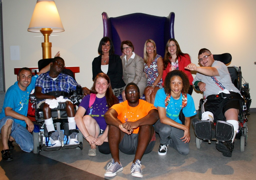 Isaiah and Jorge had a great time at the Children's Museum of Virginia in Portsmouth with members of Chartway's We Promise Foundation and Camp Horizon staff. Back row, from left: Jen Saunders, director, We Promise Foundation Board; Beth K. O'Toole, former vice chair, We Promise Foundation; Karen Lane, executive director, We Promise Foundation; Brandi Calica, events manager, We Promise Foundation. Front row, from left: Ferhat Kakouche, assistant director, Camp Horizon; Isaiah, 15, who lives at St. Mary's Home and has been attending Camp Horizon for about a decade; Ilse Turner, Camp Horizon staff; Michael Mingo-Dabney, Camp Horizon staff; Kenneth Freeman, Camp Horizon staff; Jorge,15, who lives at St. Mary's Home.